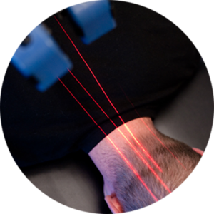 patient receiving cold laser