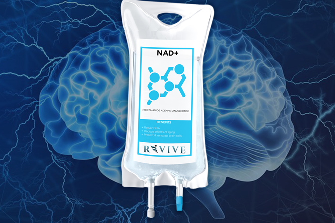 brain image with nad bag